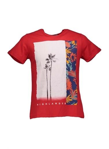Collezione Collezione Palmiye Baskılı  Erkek Tişört Kırmızı